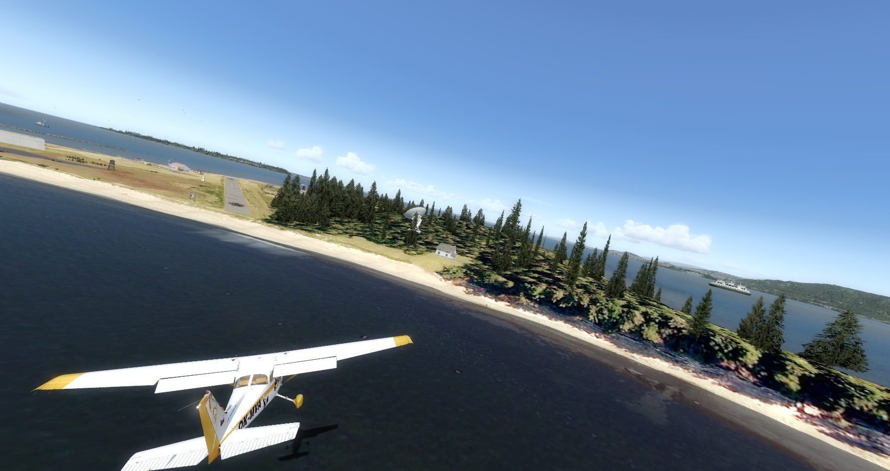 Mouseviator Private Island - approaching runway 34.