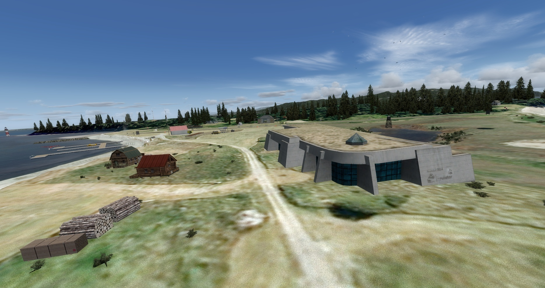 Mouseviator Private Island - antinuclear bunker and some beach houses :)