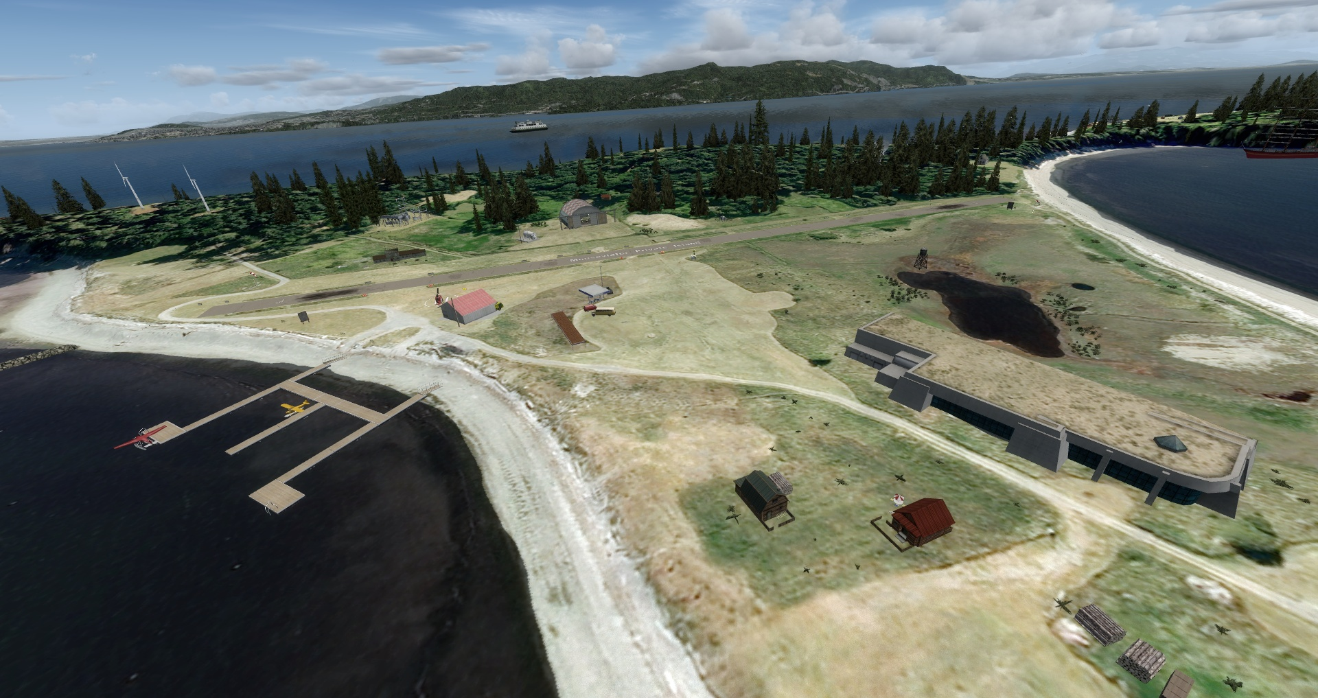 Mouseviator Private Island - Runway 16/34, seaplane dock, antinuclear bunker :)