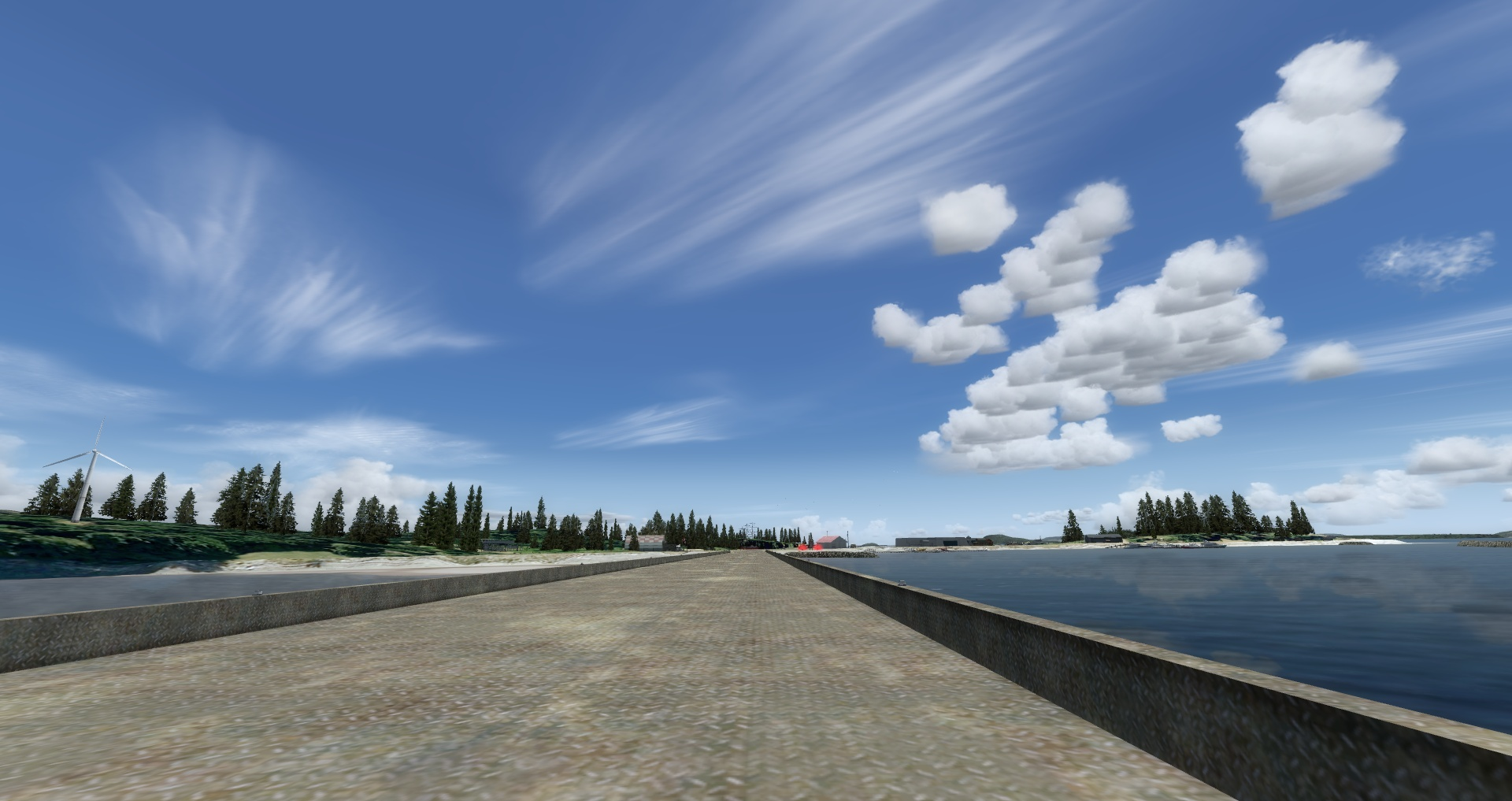 """Mouseviator Private Island - """"Raised"""" runway platform during day."""