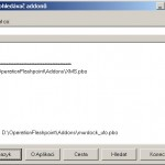 Prohledávač addonů - pomůže najít řeteězec uvnitř pbo souborů.
