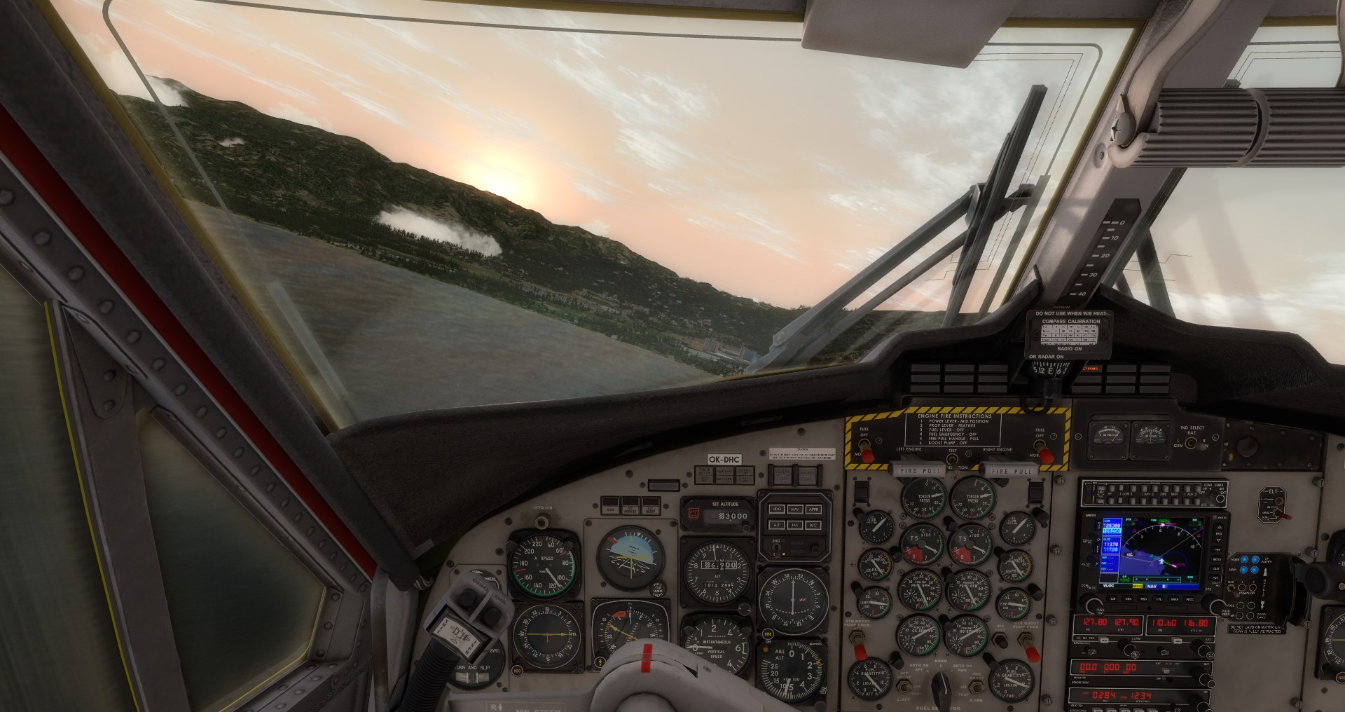 VFD Čelákovice DHC-6 Twin Otter - cockpit (just registration plate updated)