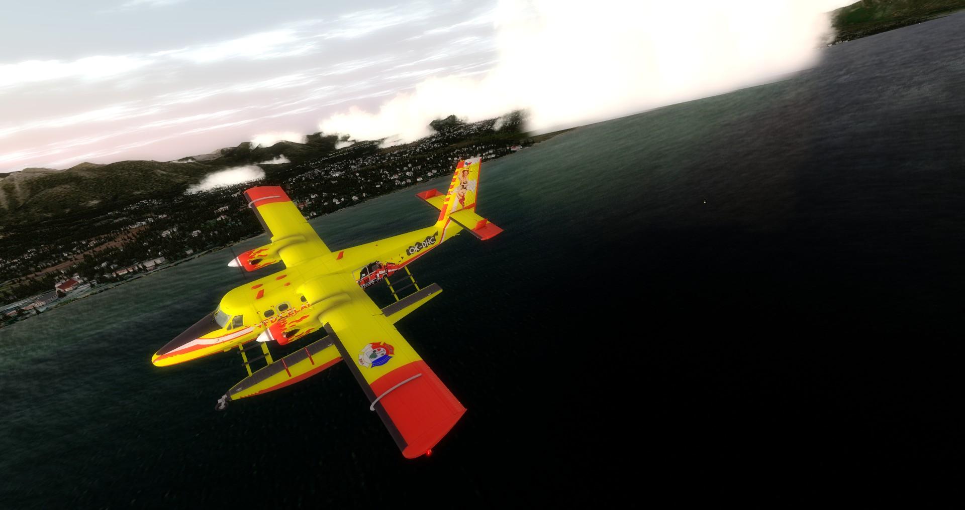 DHC-6 Twin Otter v barvách SDH Čelákovice, Lake Tahoe
