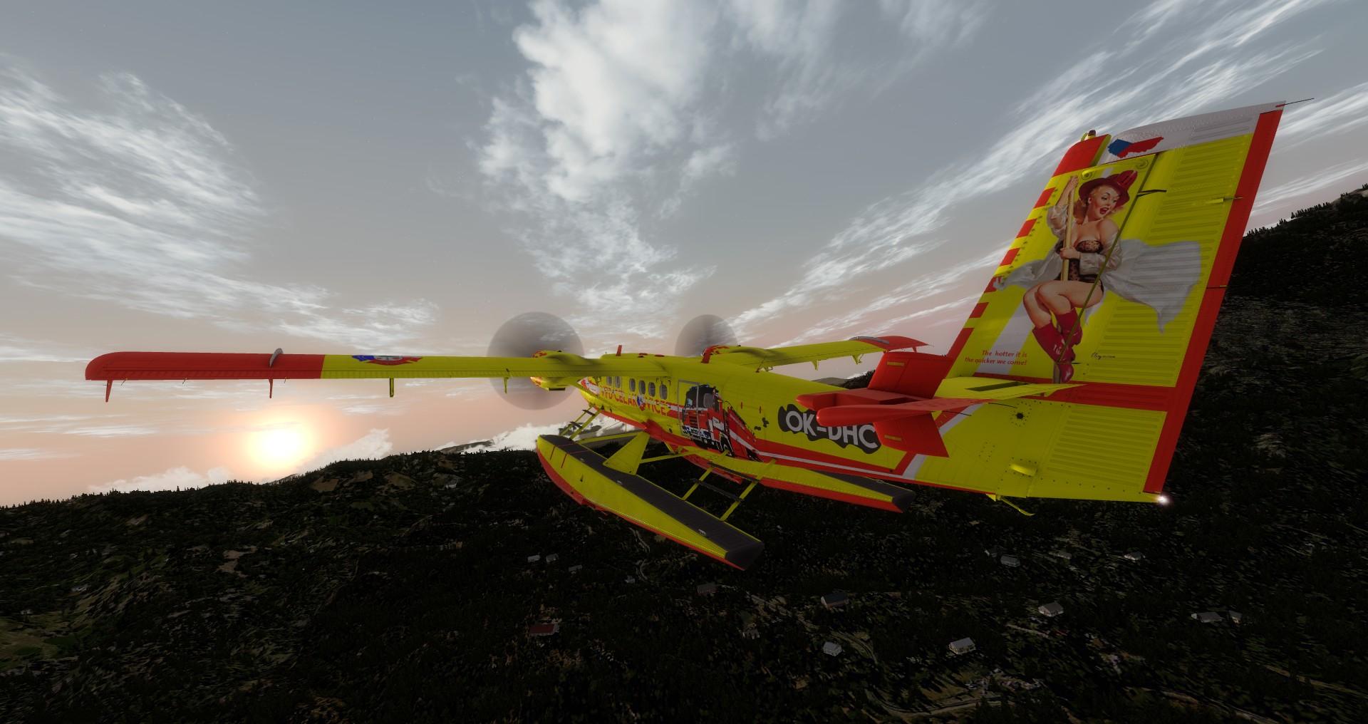 DHC-6 Twin Otter v barvách SDH Čelákovice