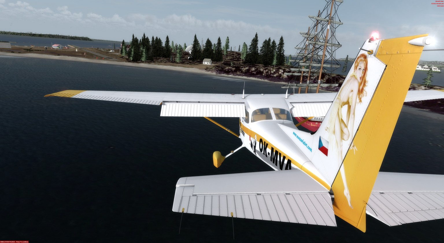 Mouseviator repaint for A2A Cessna 172