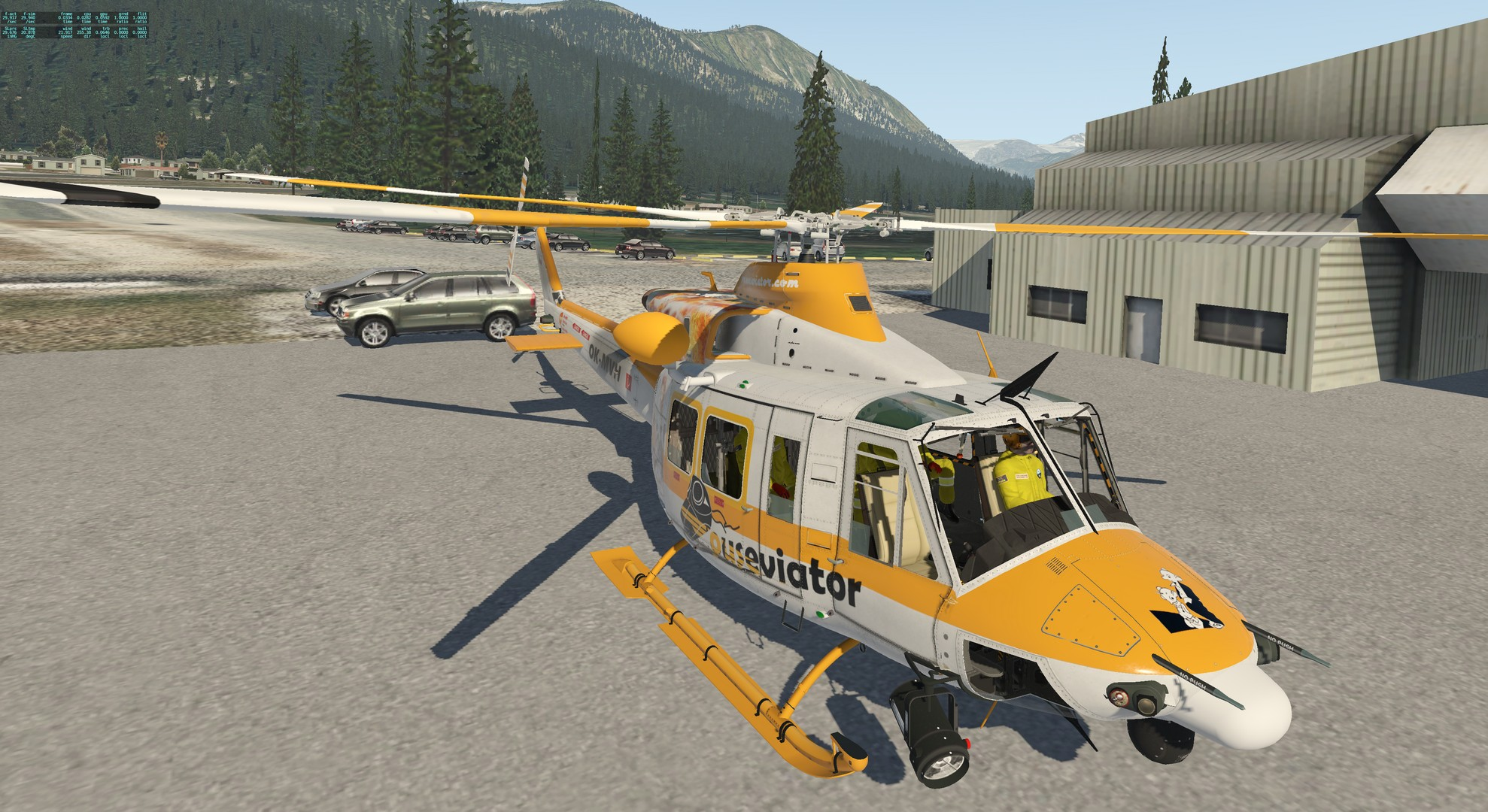 Mouseviator repaint for Bell 412 - Mouseviator