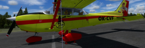 VFD Čelákovice repaint for A2A Cessna 172