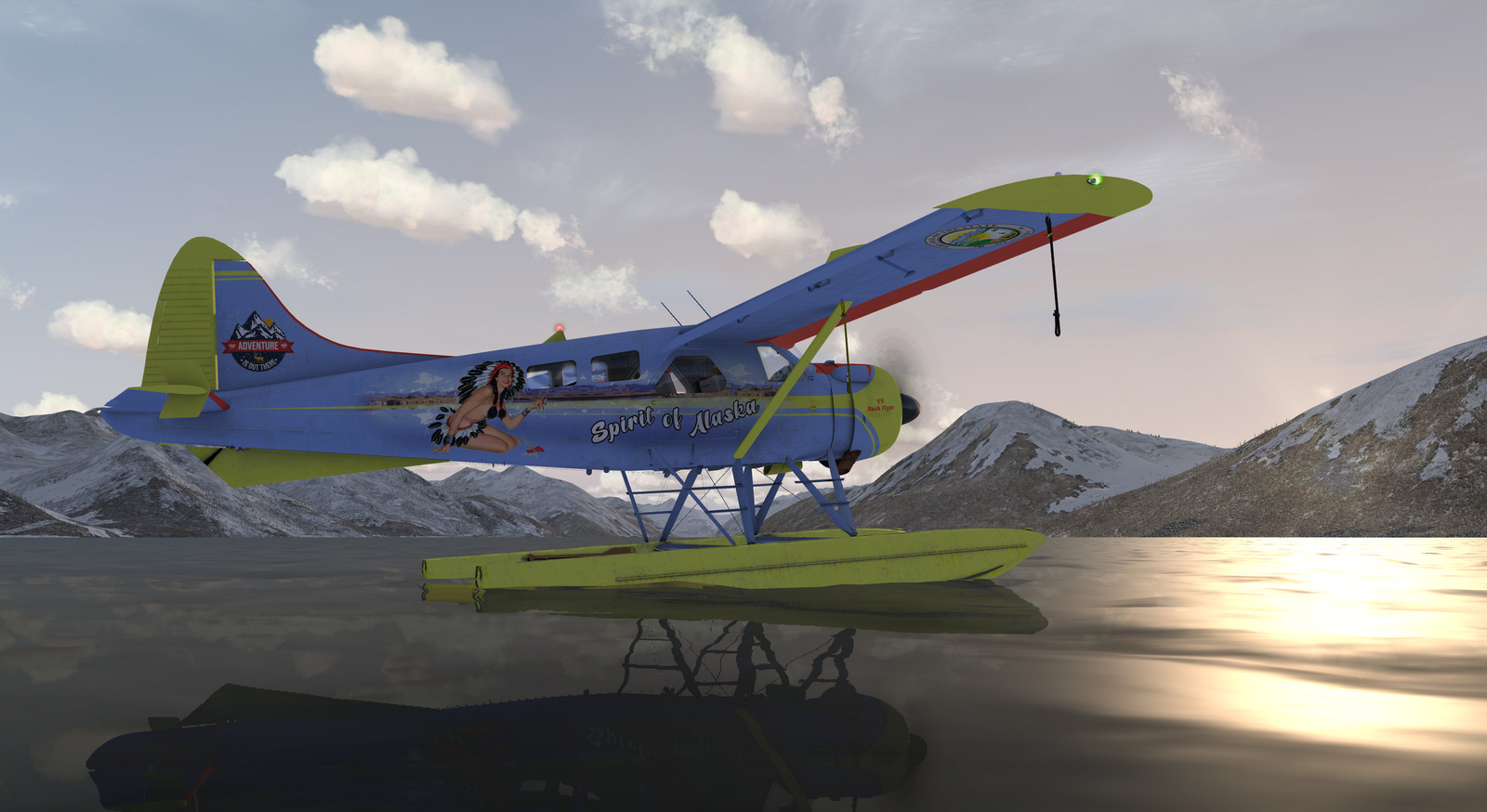 DHC-2 Beaver, Spirit of Alaska, Straight Floats STOL version, Screenshot 9/19
