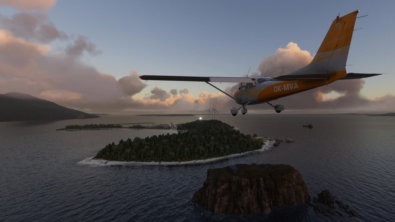 Mouseviator Private Island scenery for Microsoft Flight Simulator