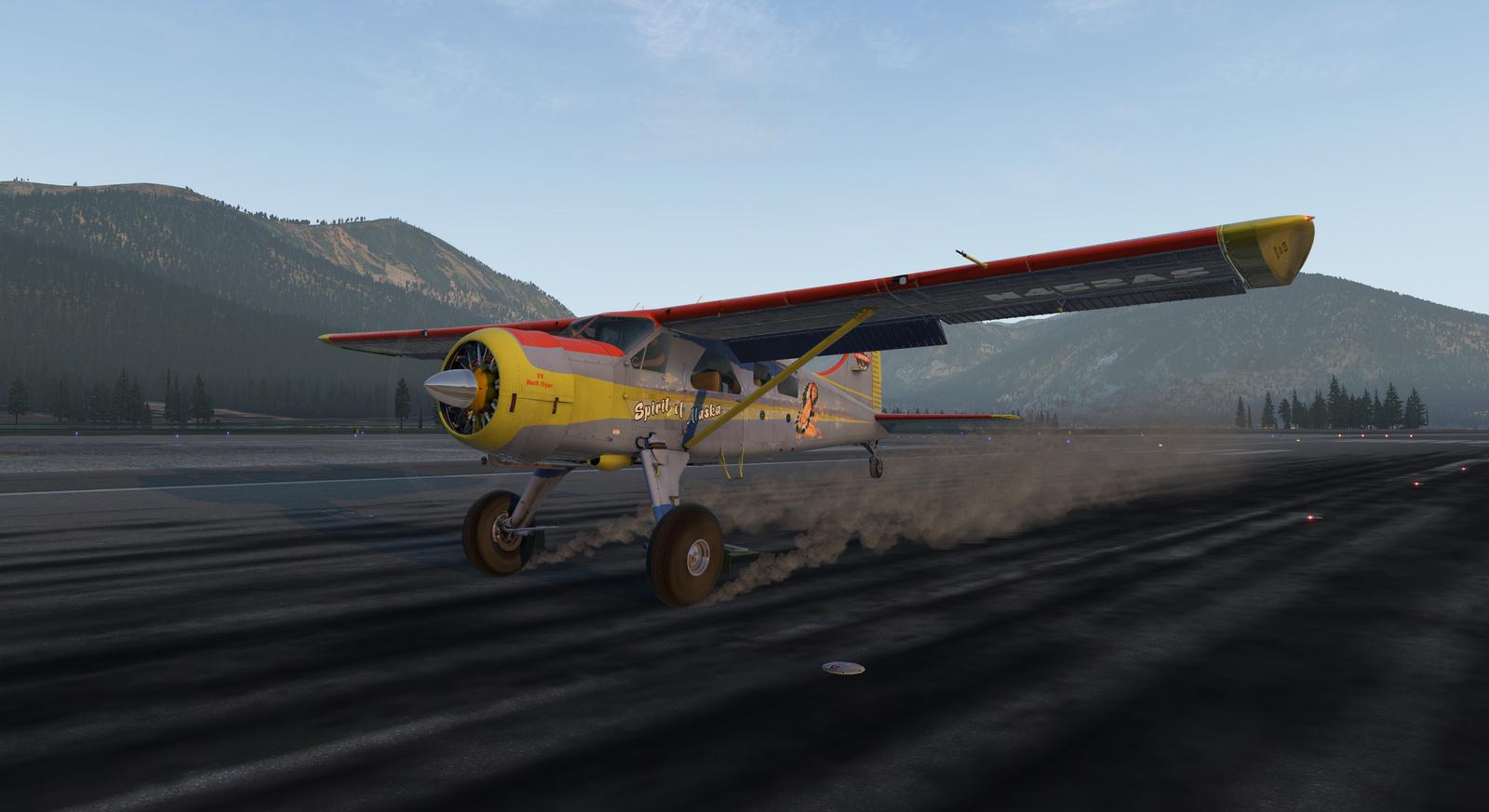 Spirit of Alaska repaint for Thranda DHC-2 Beaver for X-Plane 11, Tundra tires, image 1/20