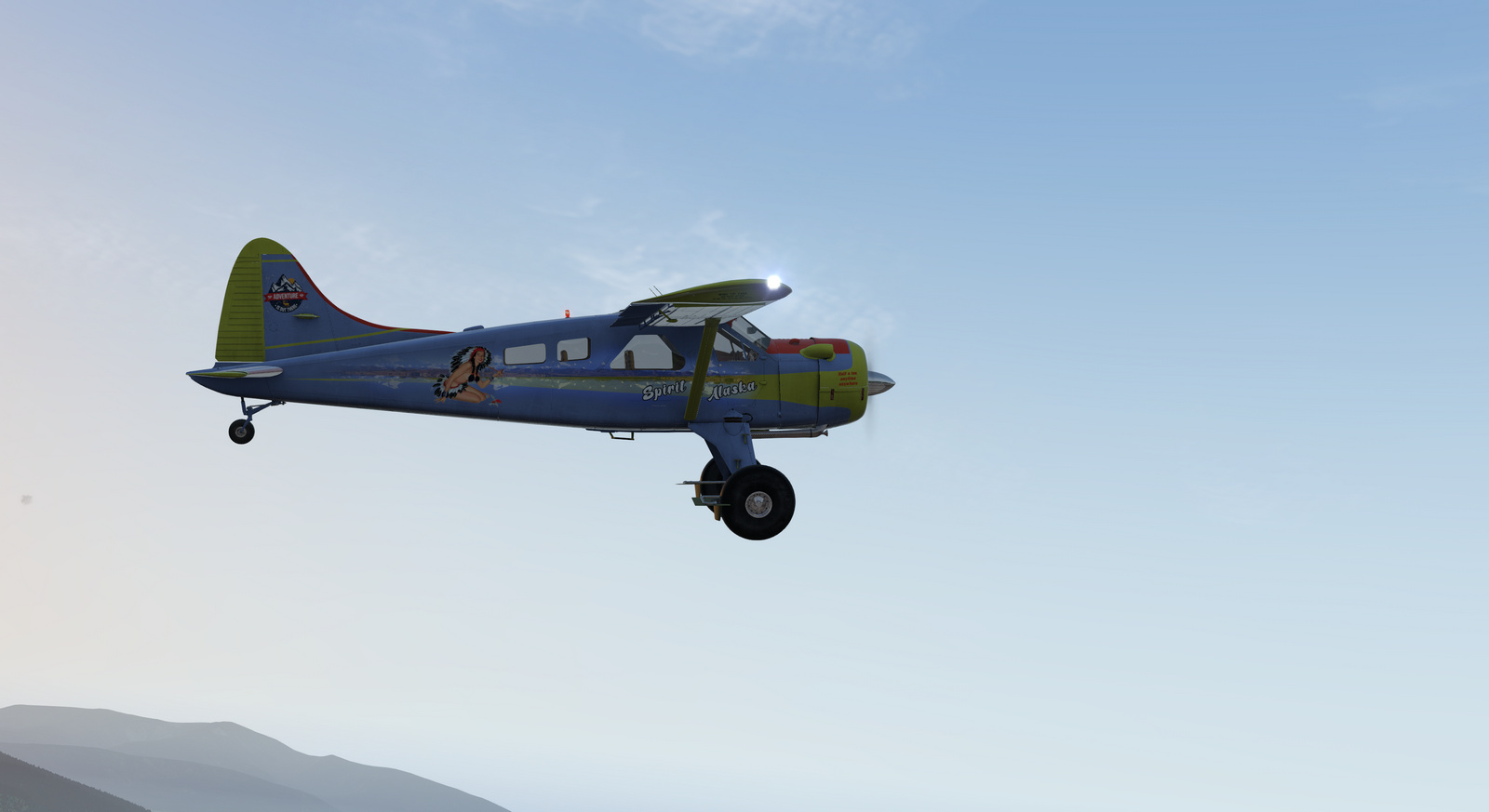 Spirit of Alaska repaint for Thranda DHC-2 Beaver for X-Plane 11, Tundra tires, image 4/20