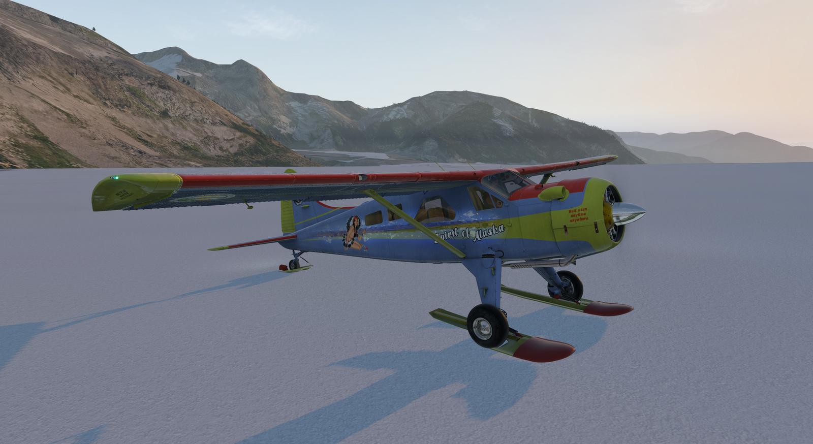 Spirit of Alaska repaint for Thranda DHC-2 Beaver for X-Plane 11, ski version, image 10/20