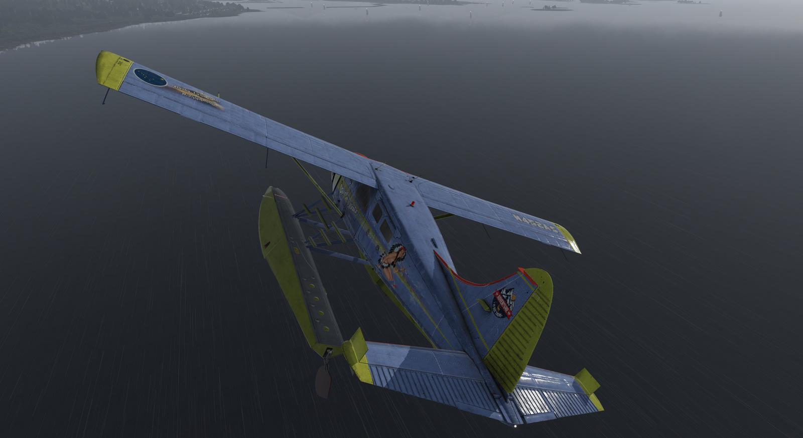 Spirit of Alaska repaint for Thranda DHC-2 Beaver for X-Plane 11, amphibian version, image 16/20