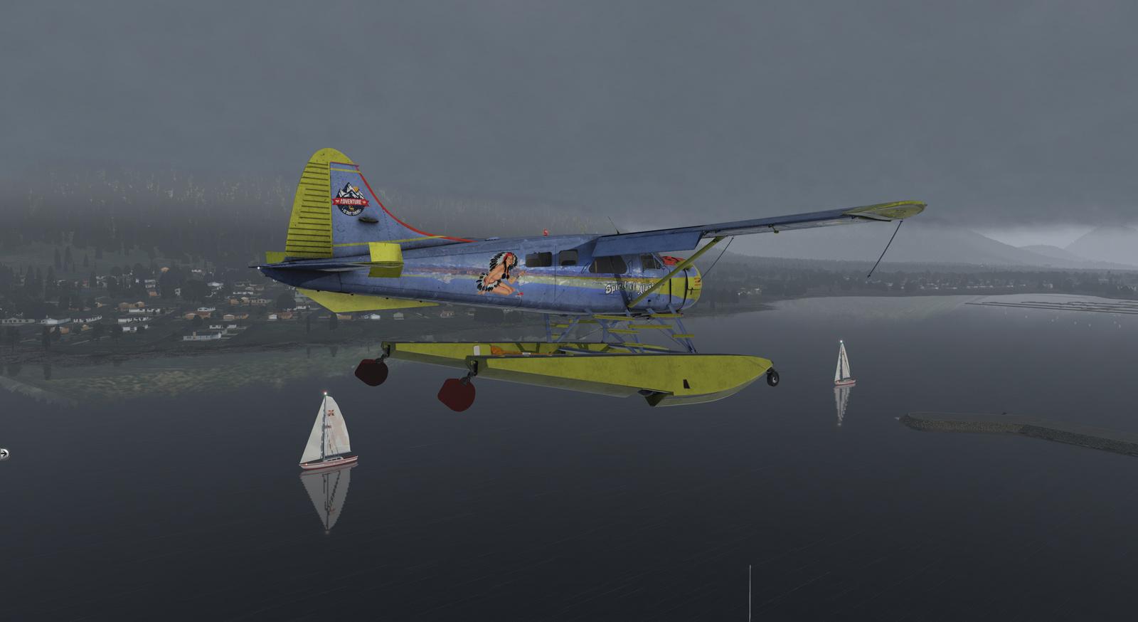 Spirit of Alaska repaint for Thranda DHC-2 Beaver for X-Plane 11, amphibian version, image 17/20