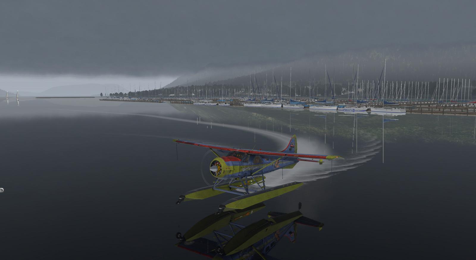 Spirit of Alaska repaint for Thranda DHC-2 Beaver for X-Plane 11, amphibian version, image 20/20